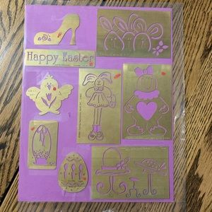 9 Brass Embossing Templates by Lasting Impressions